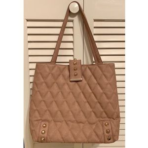 Handbags - Mauve Quilted Fashion Tote